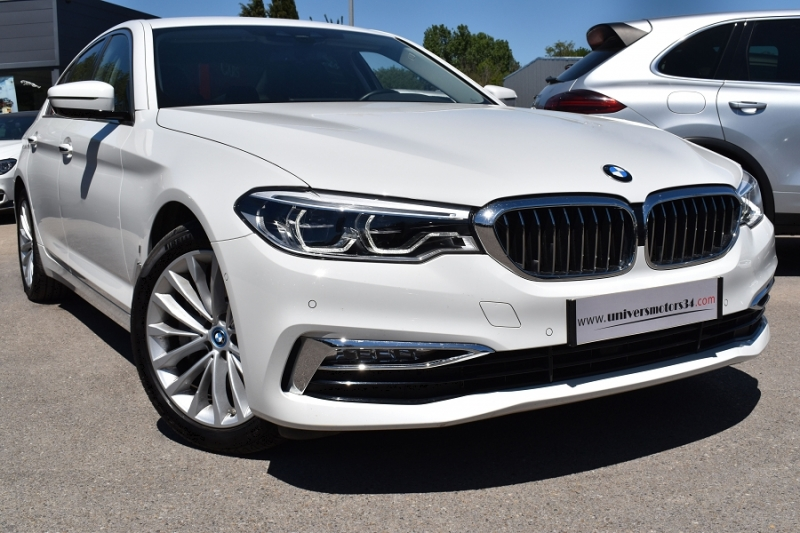 Bmw SERIE 5 (G30) 530EA IPERFORMANCE 252CH LUXURY Hybride BLANC Occasion à vendre
