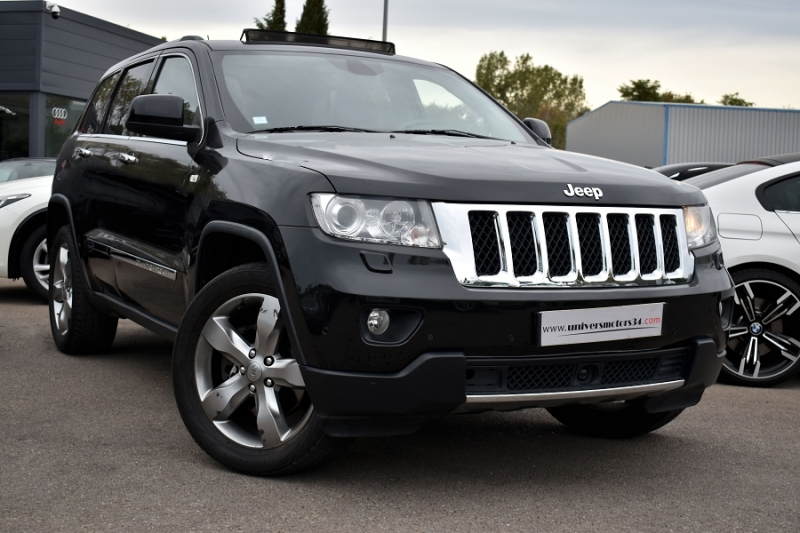 Jeep GRAND CHEROKEE 3.0 CRD241 V6 FAP OVERLAND Diesel NOIR Occasion à vendre
