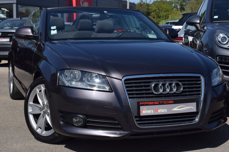 Audi A3 CABRIOLET 2.0 TDI 140CH DPF AMBITION S TRONIC 6 Diesel ANTHRACITE Occasion à vendre